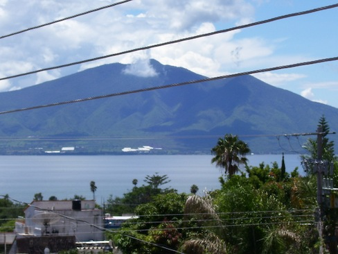 view of Lake Chapala from my veranda