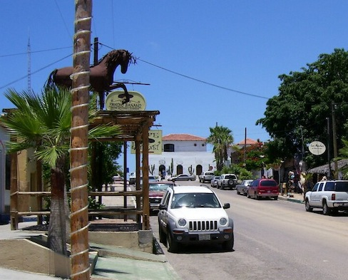 streets and shops in downtown Todos Santos