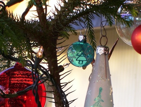 image of ornaments on a tree