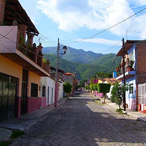 Cobblestone street in Ajijic