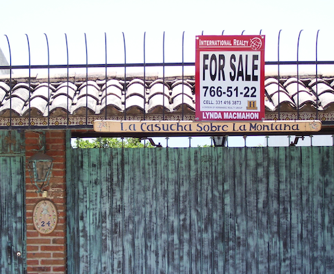 for sale sign, metal gate